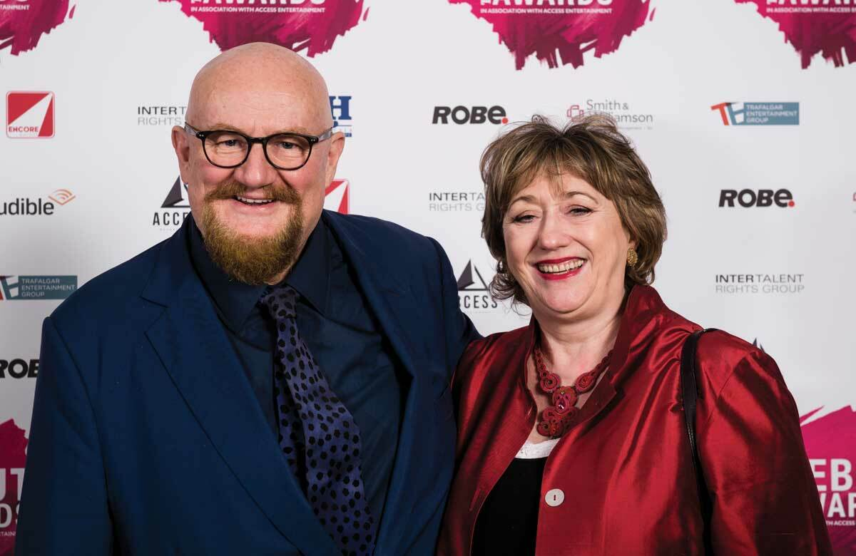 Howard Panter and Rosemary Squire at The Stage Debut Awards 2018. Photo: Alex Brenner