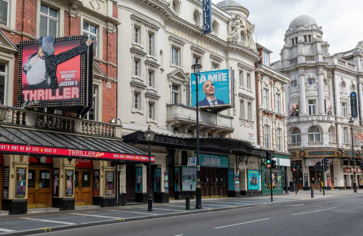 Londons West End is like a ghost town without its theatres open. Photo: Shutterstock
