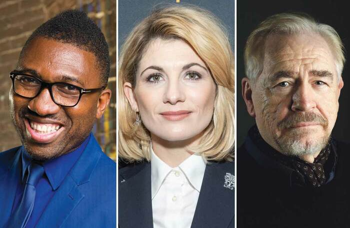 Kwame Kwei-Armah, Jodie Whittaker and Brian Cox. Photos: Richard Anderson/Shutterstock/David Ho