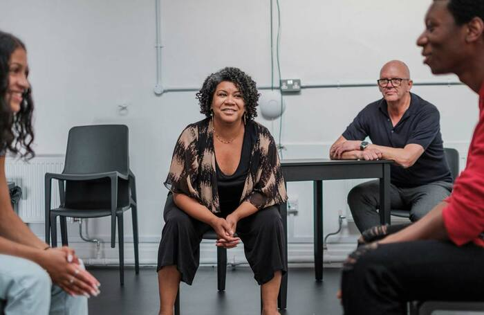 Nancy Medina and Stuart Wood, centre, at Bristol School of Acting. Photo: Sam Ford