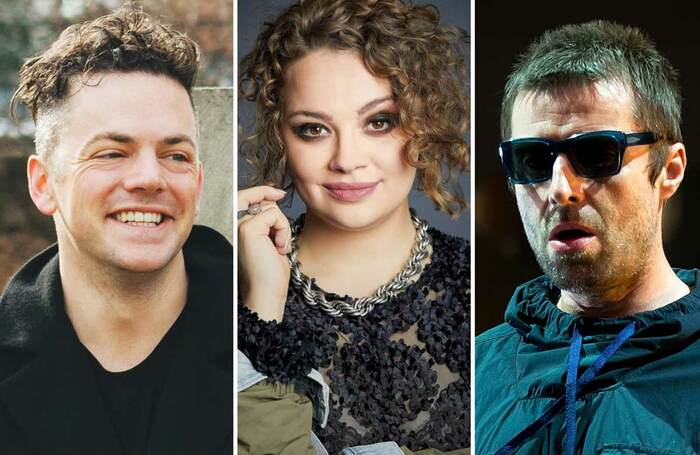Nico Muhly, Carrie Hope Fletcher and Liam Gallagher. Photos: Ana Cuba/AKA/Shutterstock