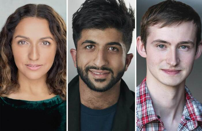 Drama Studio London graduates Verna Vyas, Mohammed Bilal Gaj and Kieran Dooner