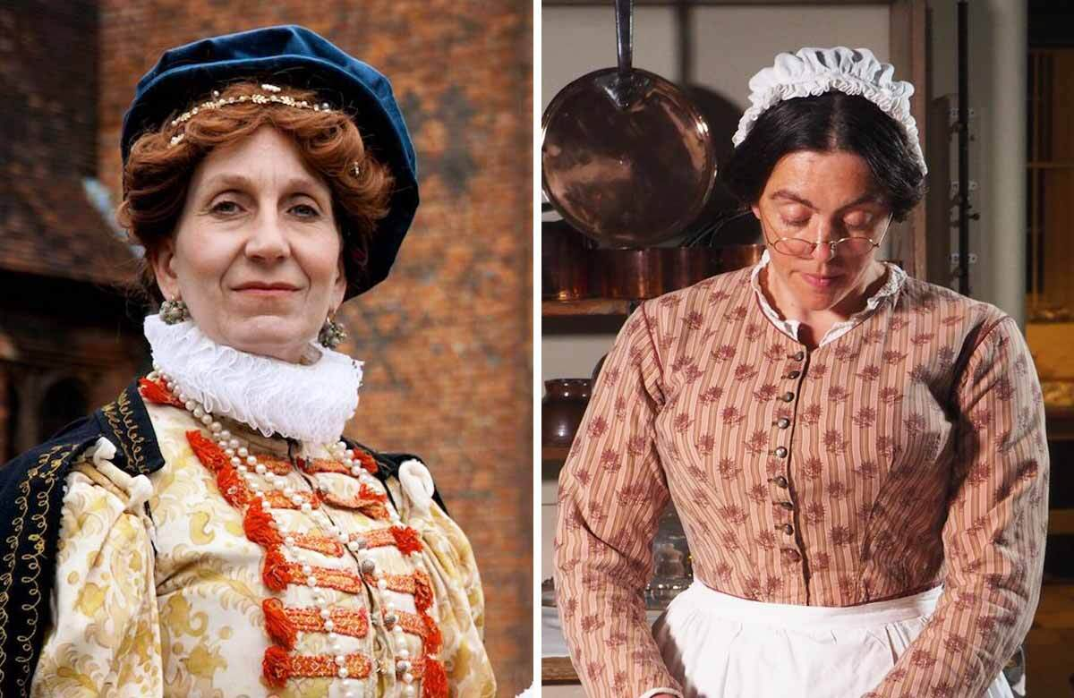 Hilary Wood as Elizabeth I and Kathy Hipperson as Mrs Crocombe. Photos: Martin Hodgson/English Heritage