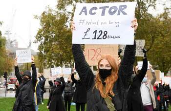 Performers join week of arts funding protests at Parliament Square