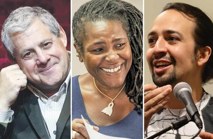 Cameron Mackintosh, Sharon D Clarke and Lin-Manuel Miranda. Photos: Chicago Tribune/Marc Brenner/Howard Sherman