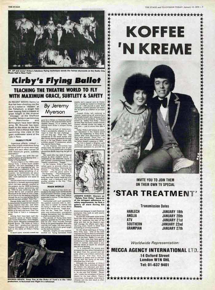 Article from The Stage in 1979