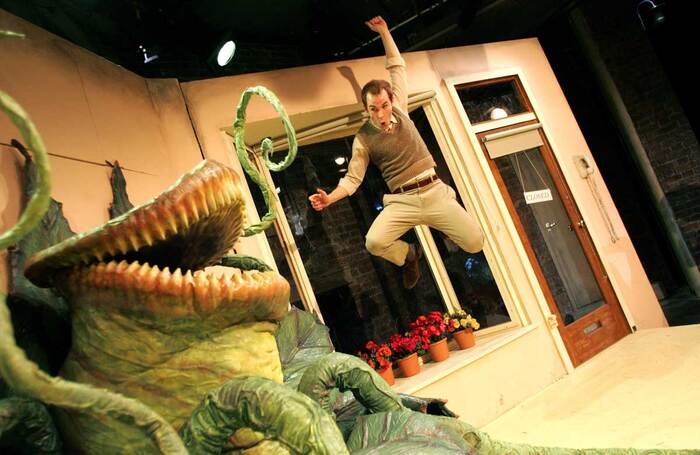 Paul Keating in Little Shop of Horrors, which opened at the Menier Chocolate Factory on November 30, 2006