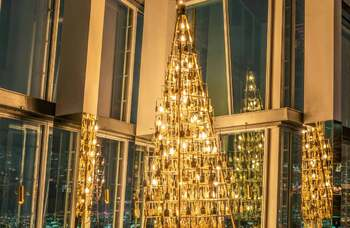Christmas tree made from paintbrushes honours theatre's out-of-work craftsworkers