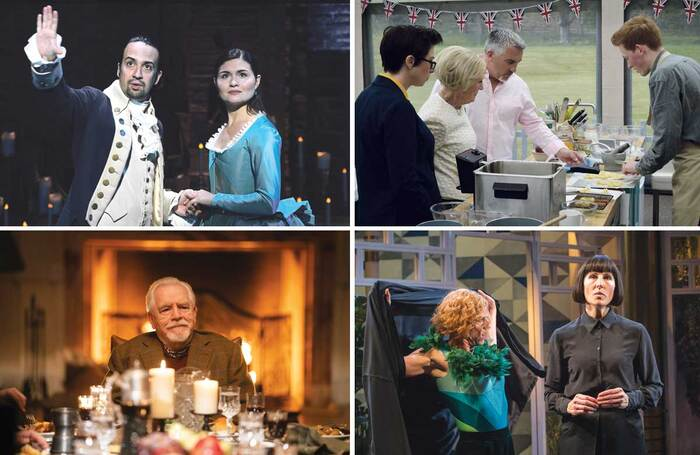 Culture fix: Hamilton on Disney +; The Great British Bake Off (BBC); Twelfth Night at the National Theatre, London (Marc Brenner); Brian Cox in Succession (HBO)