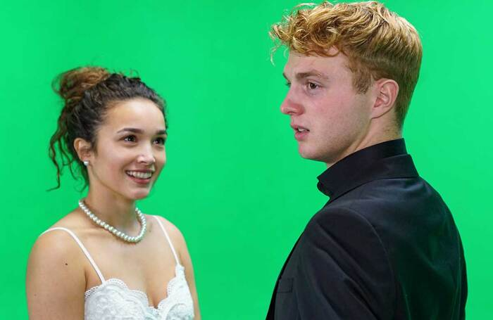 Emily Redpath and Sam Tutty working on Romeo and Juliet. Photo: Ben Purkiss
