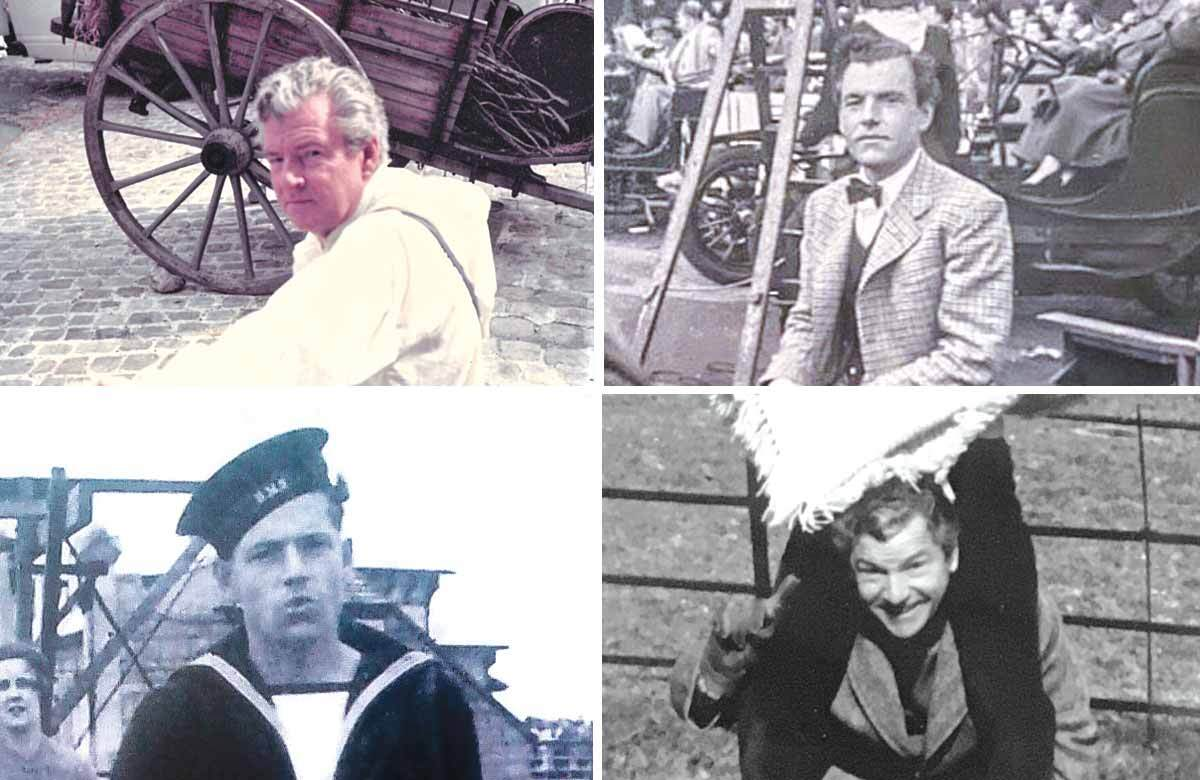 Clockwise from top left: Kenneth More on set in A Tale of Two Cities, More on the set of Genevieve, More in Sussex and More during wartime. Photos: Angela More/Jane More/Sarah More