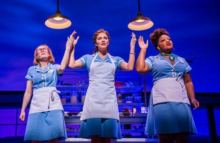 Laura Baldwin, Katharine McPhee and Marisha Wallace in Waitress, which opened at the Adelphi Theatre. Photo: Tristram Kenton