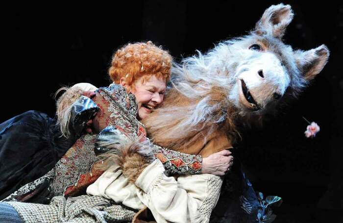 Judi Dench and Oliver Chris in A Midsummer Night's Dream, which opened on February 15, 2010 at the Rose Theatre, Kingston-upon-Thames