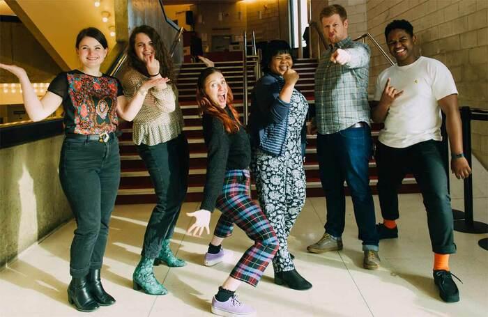 SBC Theatre, L-R: Hannah Butterfield, Munya Redman-Bayasi, Rosie MacPherson, Emily Ntshangase-Wood, John Tomlinson and Tafadzwa Muchenje. Photo: Smart Banda