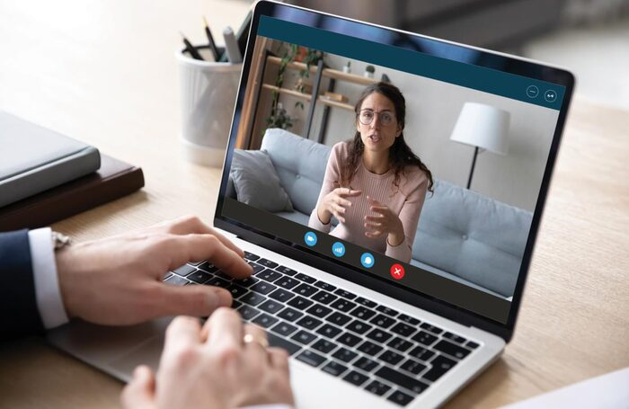 Drama school auditions are now happening over video conferencing platforms. Photo: Shutterstock