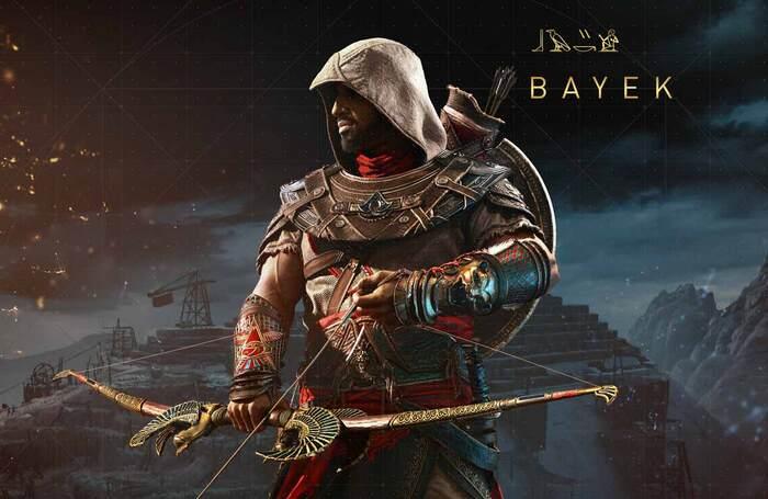 Actor Abubakar Salim played lead character Bayek of Siwa in Ubisoft's Assassin's Creed: Origins. Photo: Ubisoft
