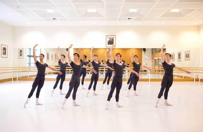 Upper School students in class at the Royal Ballet School, Covent Garden in 2019. Photo: the Royal Ballet School