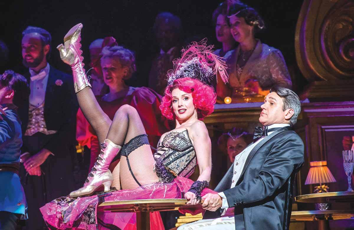 Sarah Tynan and Nathan Gunn in The Merry Widow, which opened at  London Coliseum on March 1, 2019. Photo: Tristram Kenton