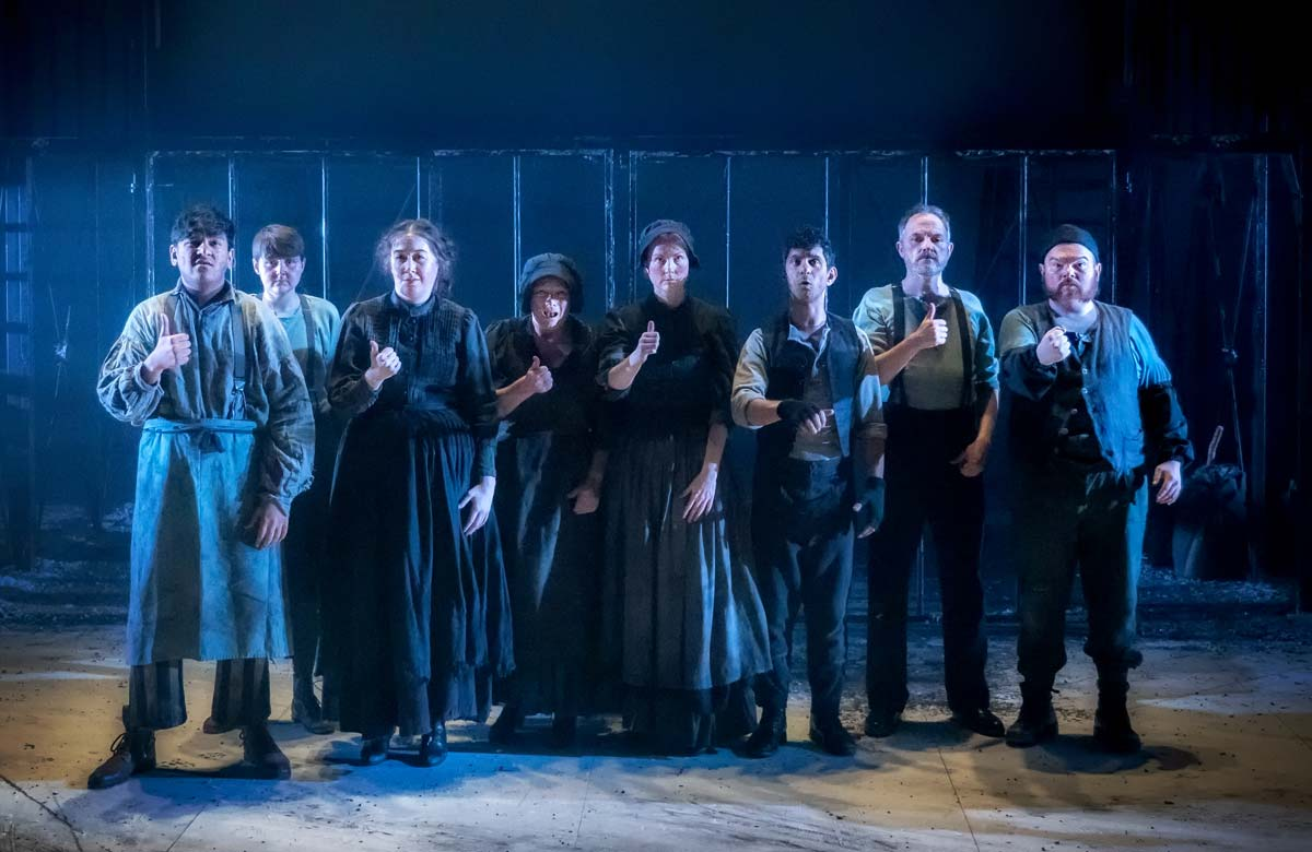 Cast of Oliver Twist. Photo: Anthony Robling
