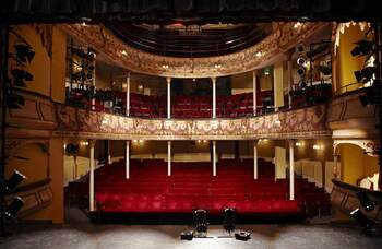 I miss theatre buildings: the crowd, the sweets, and most of all the promise of an empty stage