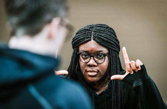 BA Directing degree students at Plymouth Conservatoire. Photo: Daniel Martin