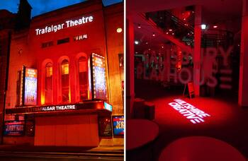 UK venues lit red to mark anniversary of closures
