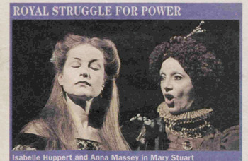 Isabelle Huppert at the National Theatre – 25 years ago in The Stage