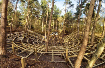 350-seat theatre being built in bomb crater in Suffolk woodland