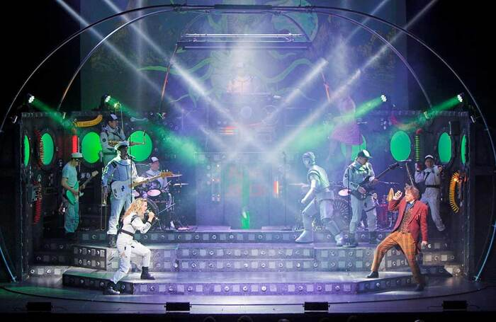 Touring production of Return to the Forbidden Planet, with lighting design by Mark Dymock