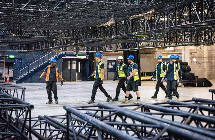 SSE Arena build. Photo: Gallowglass