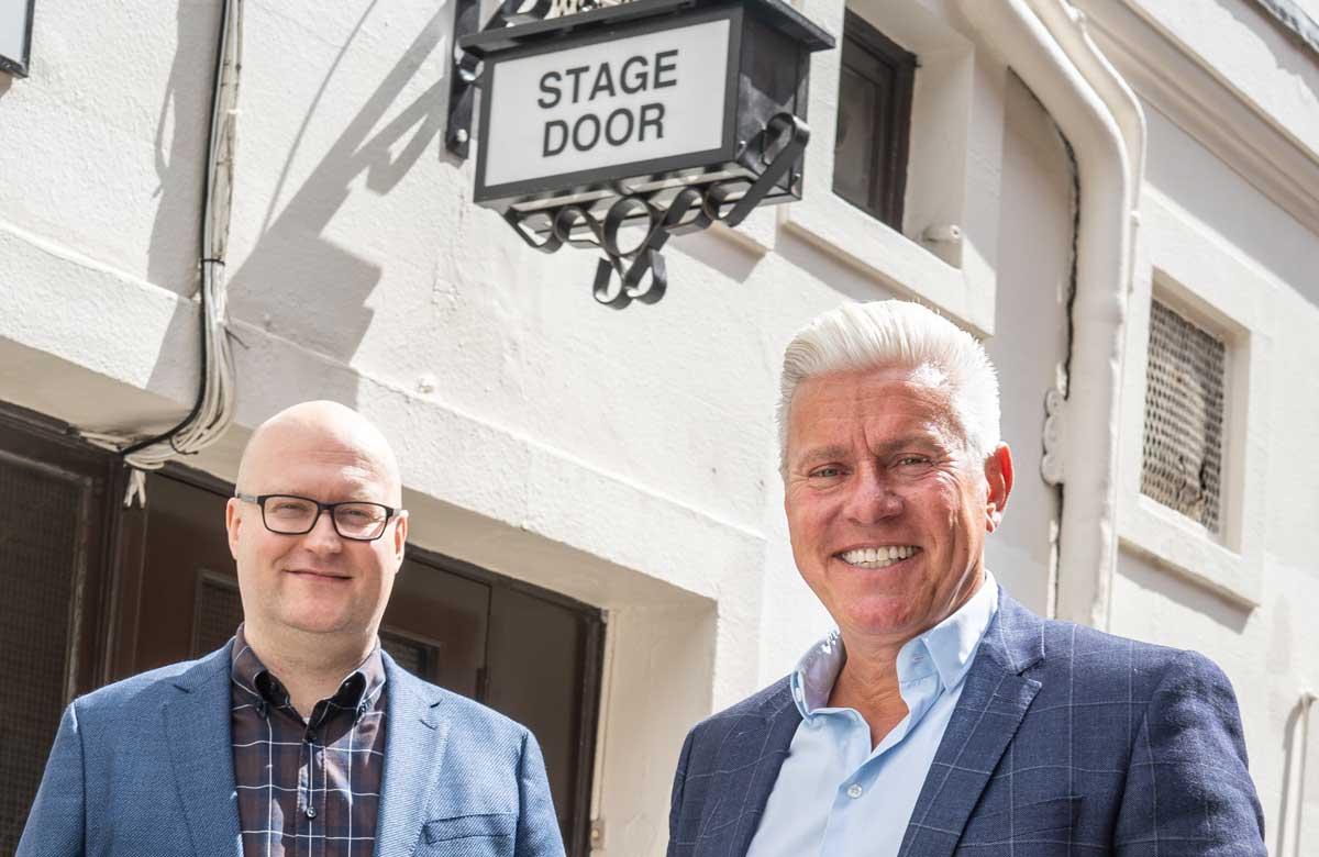 Double act: Michael Harrison and David Ian on the Qdos Pantomimes sale