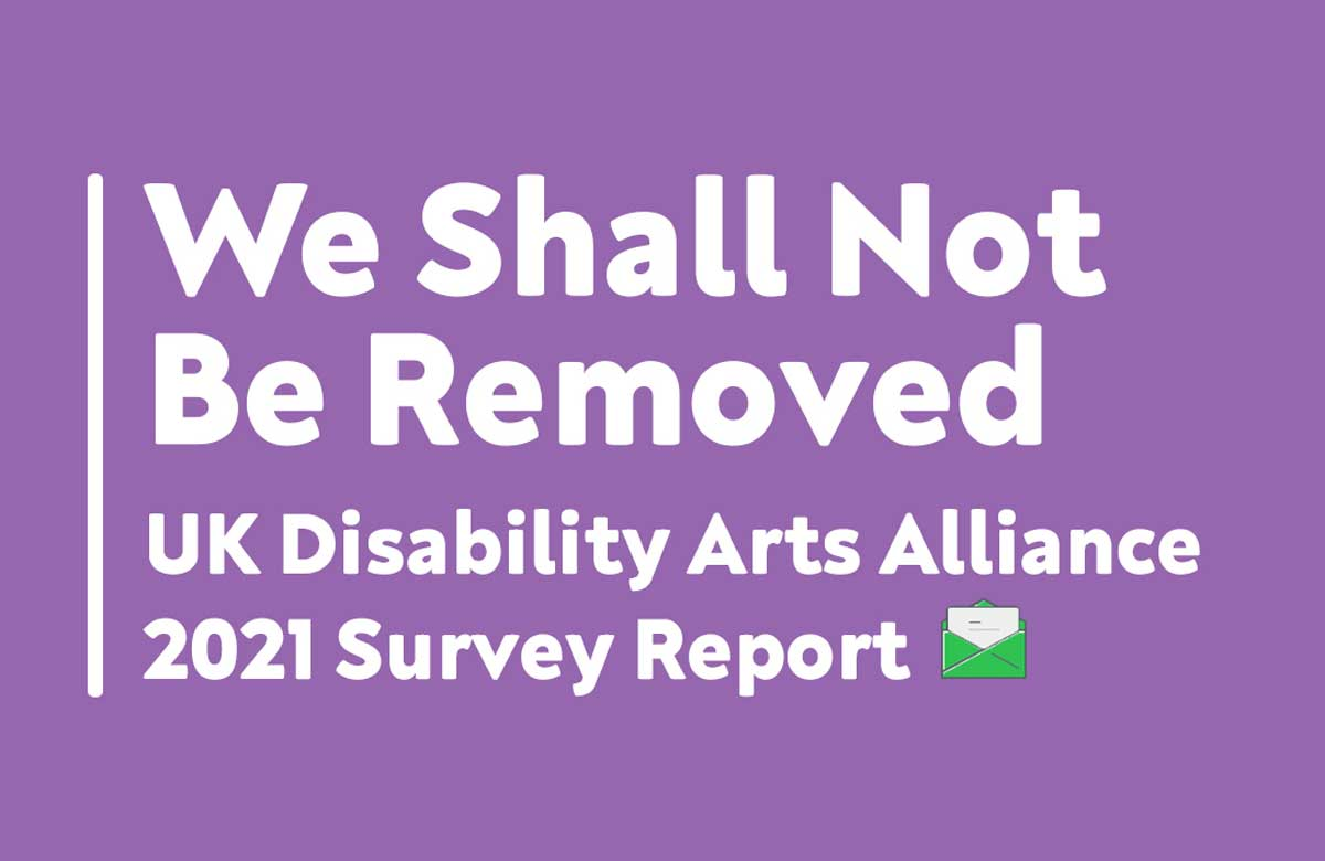 Disability arts face 'fragile' future after pandemic, survey warns
