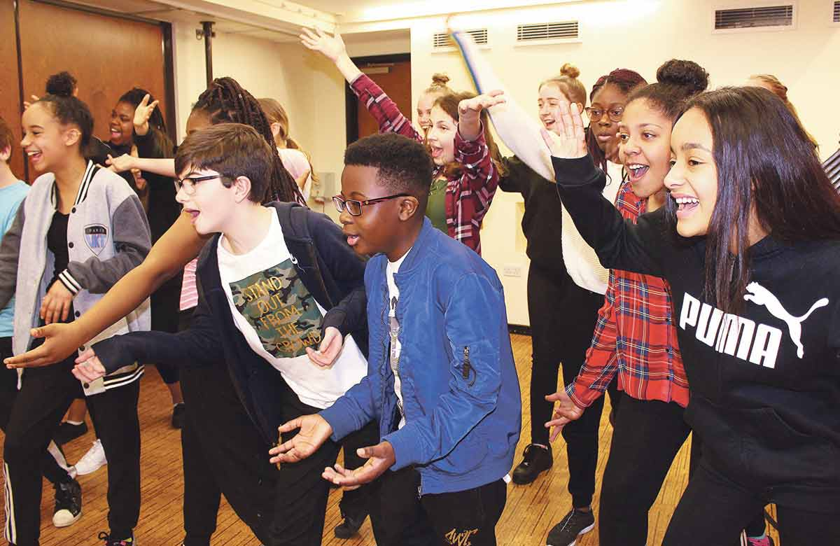 A workshop at the Royal and Derngate in Northampton. Photo: Trudy Bell