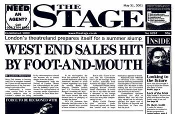 Foot-and-mouth hits Theatreland audiences – 20 years ago in The Stage