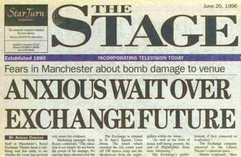 Royal Exchange bombed – 25 years ago in The Stage