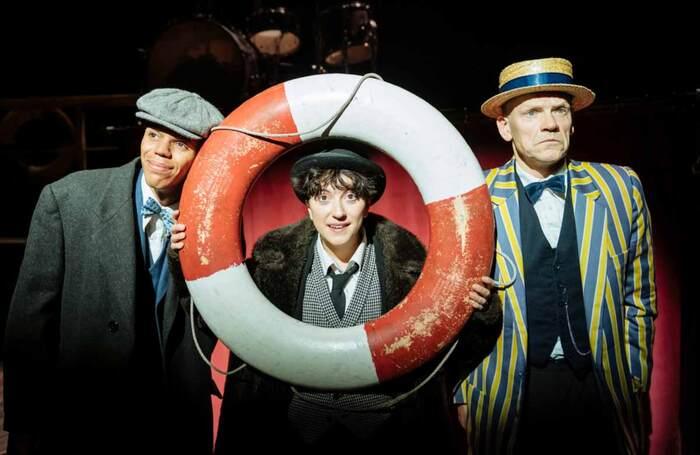 Jerone Marsh-Reid as Stan Laurel, Amalia Vitale as Charlie Chaplin and Nick Haverson as Fred Karno in Charlie and Stan. Photo: Manuel Harlan