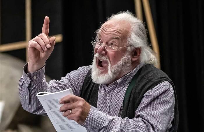 John Tomlinson in rehearsal for Grange Festival's King Lear. Photo: Clive Barda