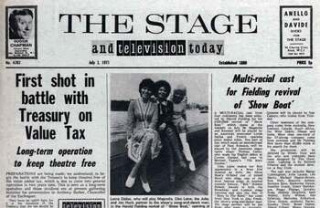 Fight against VAT on theatre begins – 50 years ago in The Stage