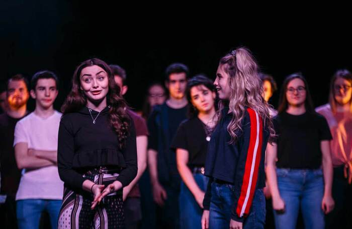 Ayrshire College students perform Young Blood on the stage of the Ayr Gaiety. Photo: Jassy Earl