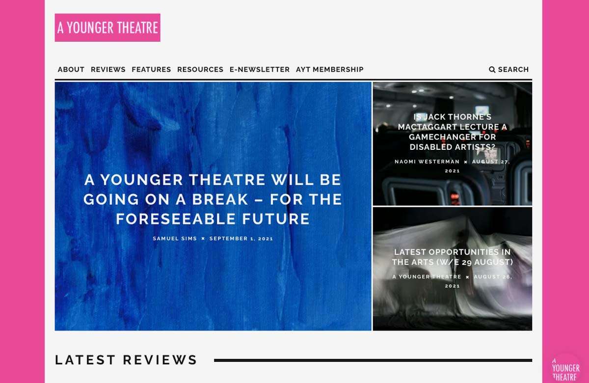 A Younger Theatre to close 'for foreseeable future'