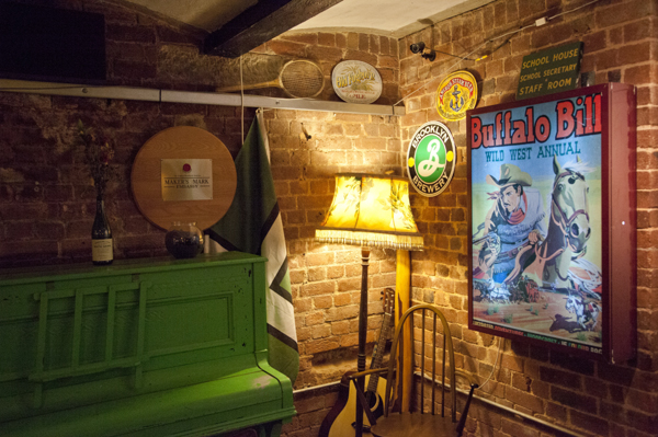 The bar at the Bike Shed. Photo: Rob Darch