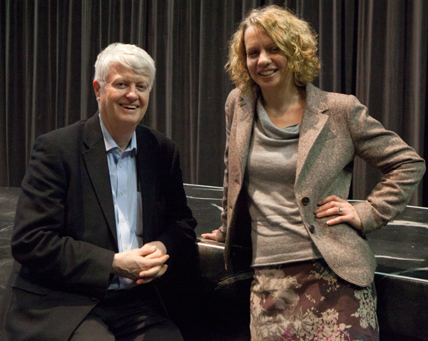 Principal Michael Earley with Stratford Circus artistic director Claire Connor