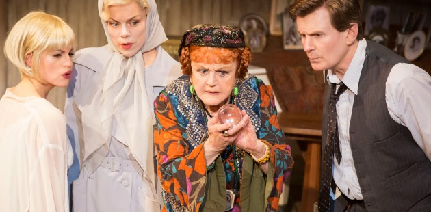 Jemima Rooper, Janie Dee, Angela Lansbury and Charles Edwards in Blithe Spirit. Photo: Johan Persson