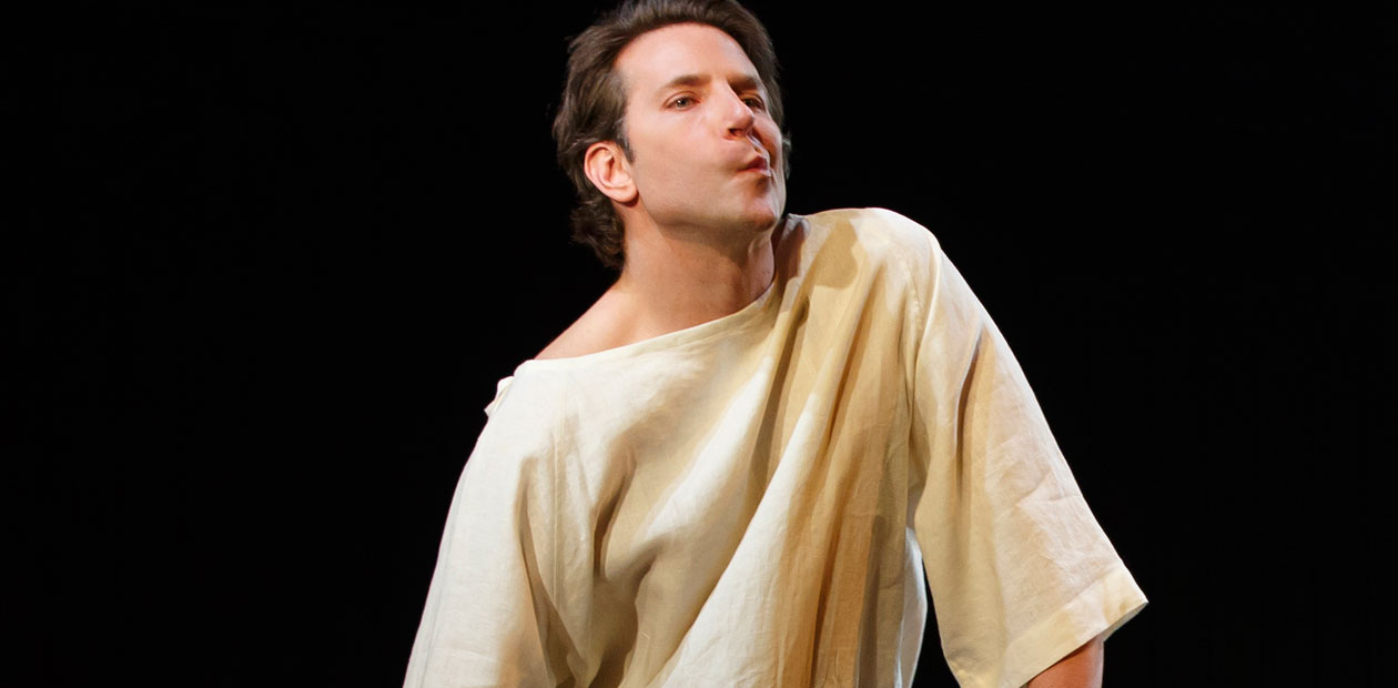 Bradley Cooper in The Elephant Man at New York's Booth Theater. Photo: Joan Marcus