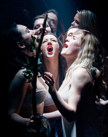 The company's production of Euripides' The Bacchae. Photo: Marius Tatu
