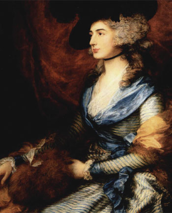 Sarah Siddons, as painted by Thomas Gainsborough in 1785