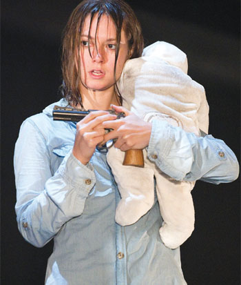 Lydia Wilson in Blasted, directed by Sean Holmes, at the Lyric Hammersmith in 2010. Photo: Tristram Kenton