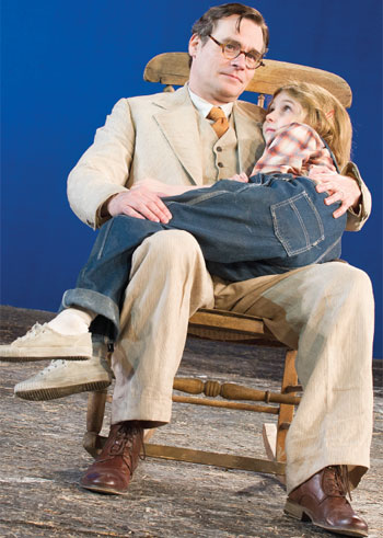 Eleanor Worthington-Cox and Robert Sean Leonard in To Kill a Mockingbird at Regent's Park in 2013. Photo Tristram Kenton