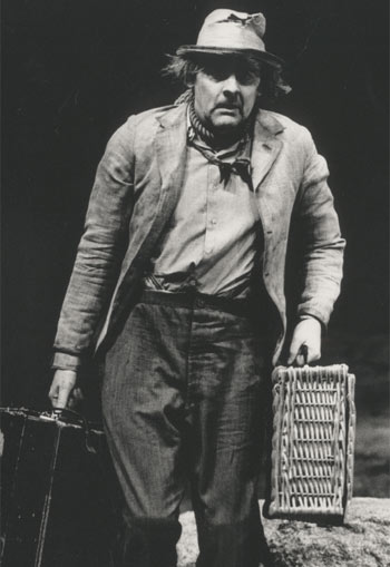 Peter Wight as Lucky in Waiting for Godot in 1987. Photo Nobby Clark