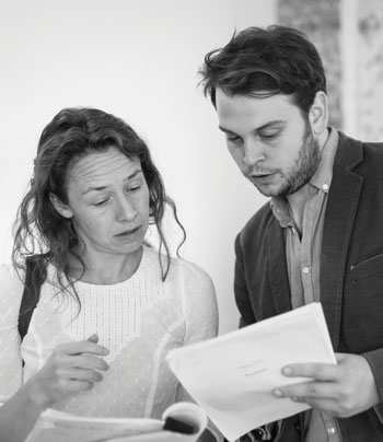Norris working with co-director of Up in Arms Alice Hamilton